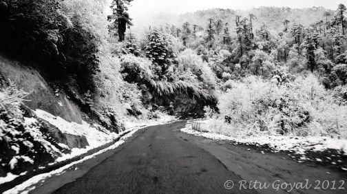 Snow on Bumthang route