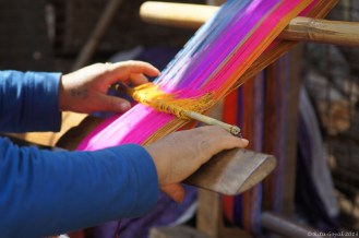 Woman weaves stoles at the Takin Reserve, Thimpu