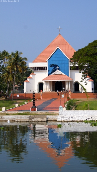 A church along the backwaters