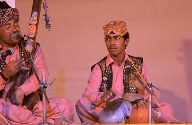 Musician playing an instrument that later became the tabla...