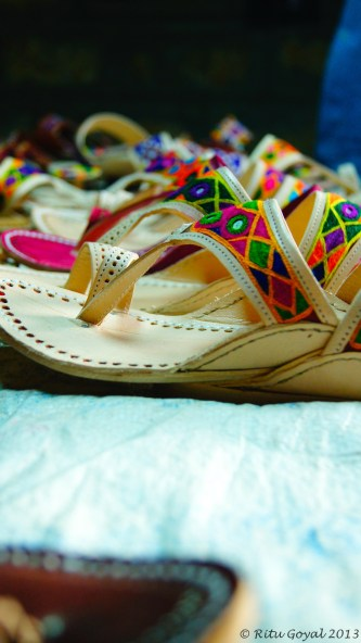 Handcrafted. Painstakingly. And all they do is, adorn feet